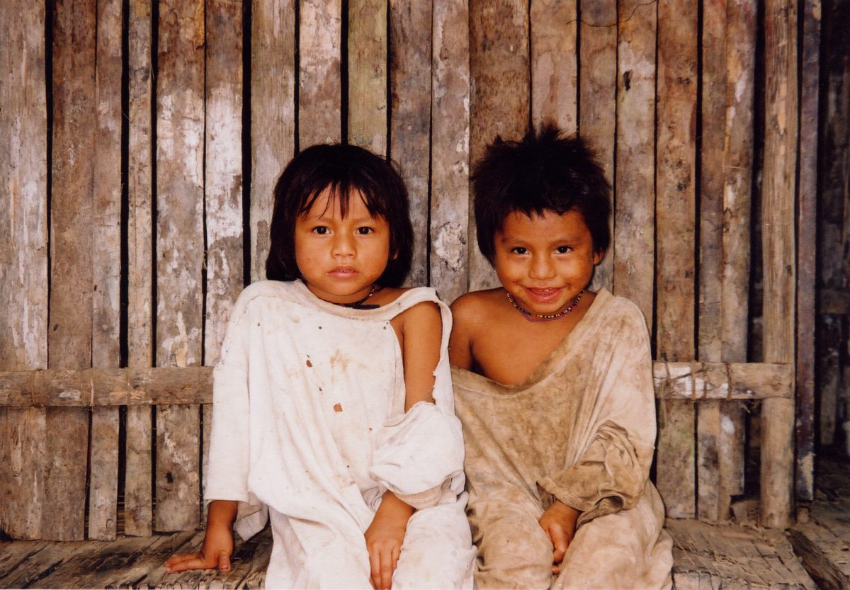 Children from jungle community in Manu, Southern Amazon, 4 copy